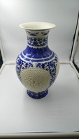 Blue and White Ceramic Vase Porcelain hollow out chinese antique