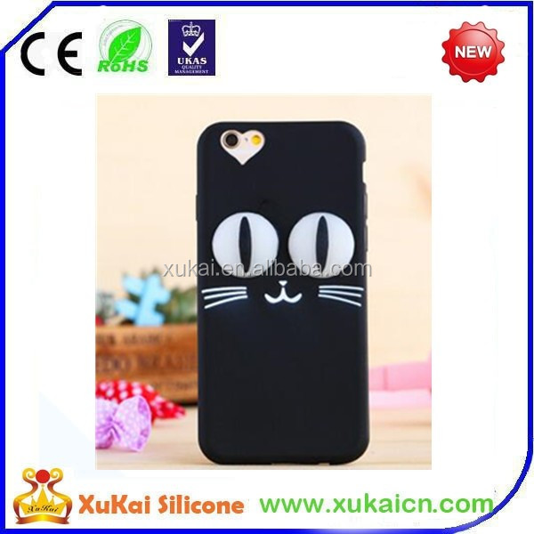 Promotional 3d Cute Animal Silicone Mobile Phone Case