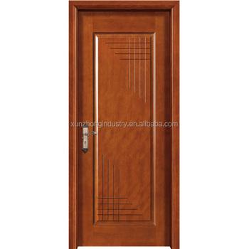 Classic Interior Drawing Room Single Leaf Flush Wooden Door Design