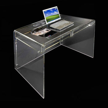 Exceptionnel Modern Minimalist Perspex Furniture Acrylic Office Writing Desk