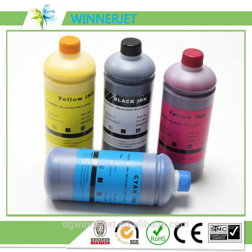 Best Quality Reactive pigment Ink For Ricoh GC 31 Inkjet Printer
