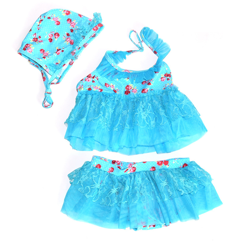 Buy Fashion newborn baby girl swimwear blue pink lace swimsuit baby girl  with hat girls bathing suit with skirt kp-16058 in Cheap Price on  m.alibaba.com ca0bfc97cb2