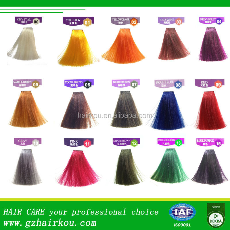 Violet Semi Permanent Hair Color Temporary Blonde Hair Dye