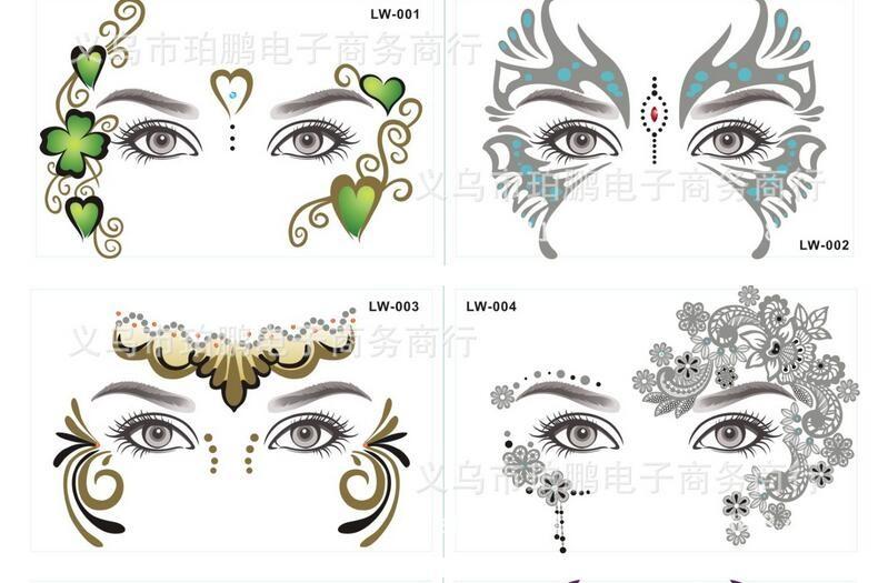 Sexy Eye Decoration Sticker Face Art Eye Shadow Sticker Remove ...