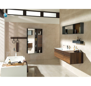 New boutique series wall hung baroque bathroom vanity unit /french bathroom vanity cabinet with limestone bathroom sink