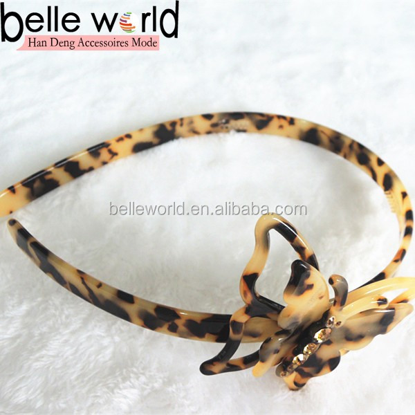 Noble fashion headband butterfly accessories for ladies