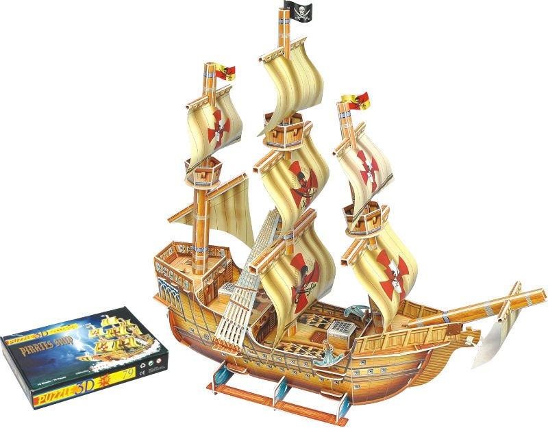 3D puzzle -The corsairs-pirate boat Educational Toys