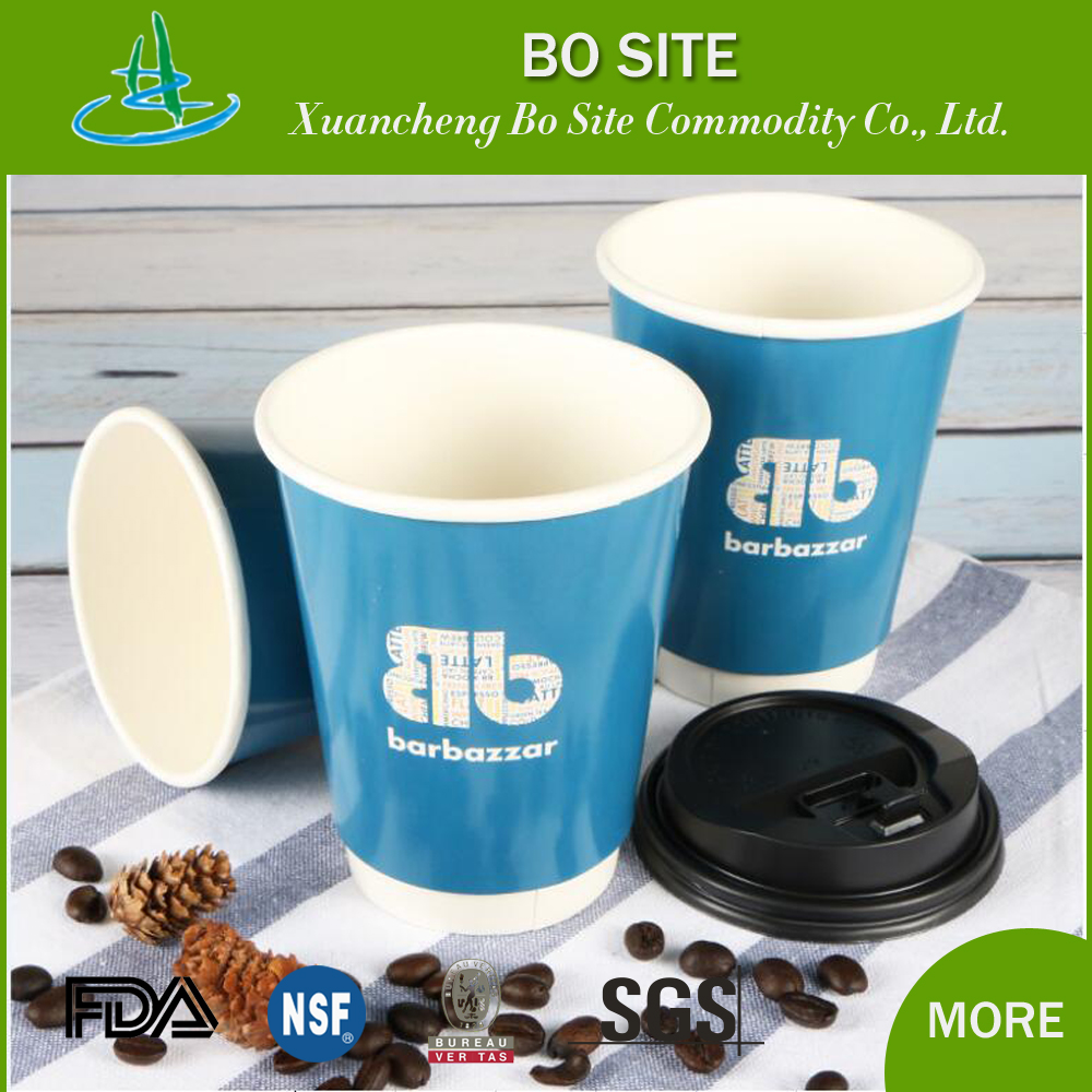 Cheap Custom Printed Disposable costa Double Walls Paper Cup for Coffee Hot Chocolate Drinks