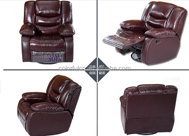 Black Leather Recliner Sofa Single Ls627