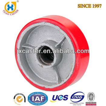 8-inch Polyurethane (PU) on Cast Iron core Wheel,steering wheel