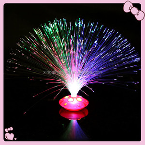 Beautiful Romantic Color Changing LED Fiber Optic Night Light Lamp Battery Powered Small Light Christmas Party Home Decor
