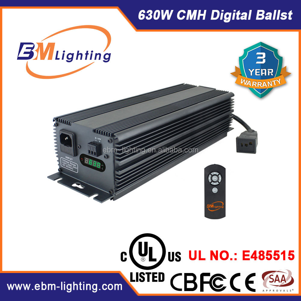 New CMH 630W double ended digital electronic ballast for one CMH 630W bulb