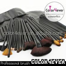 Cute make up brush/best make up brush sets/32pcs make up brush sets black makeup organizer
