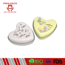 Wholesale heart shape candle tin case with logo