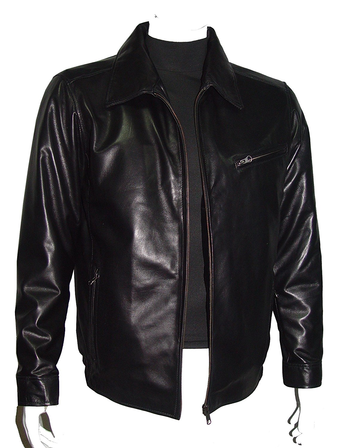 6be488d1b1db77 Get Quotations · Nettailor Tall Big Man 1052 BIG TALL Size 4 Season Leather  Jacket Zip Out