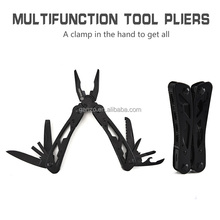 G104 pocket tool stainless steel survival knife cutting pliers with scraper saws 13 in 1 repair tool