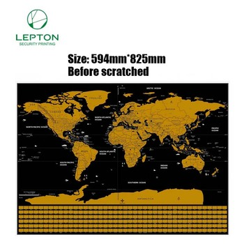Wholesale 2018 Custom Poster Scratch World Map 250g Coated Paper ...