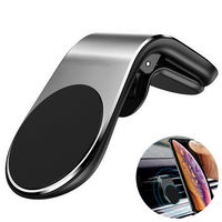 Universal L Type Mobile Air Vent Clip Stand Magnetic Holder Car Phone Mount