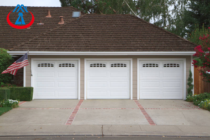 product-Standard Two Car Electric Aluminum Garage Door for House-Zhongtai-img