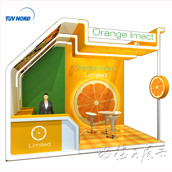 Detian Offer orange juice drink trade show booth food fair exhibition booth