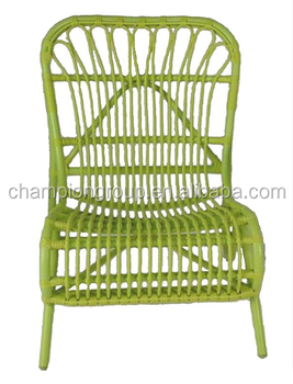Colorful Big Round Wicker Dining Chair