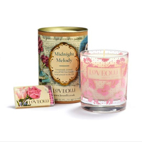 Personalised Scented Soy Romantic Glass Candle in round box