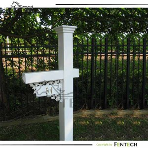 customized high quality cheap pvc sign post with mail fence
