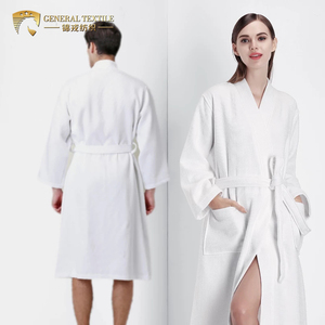 Cotton Waffle White Bathrobe Luxury Weave Waffle Soft Spa Robes For Women and Men