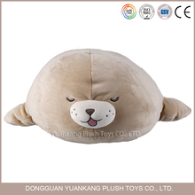 ICTI certificated plush toys custom plush sea lion pillow