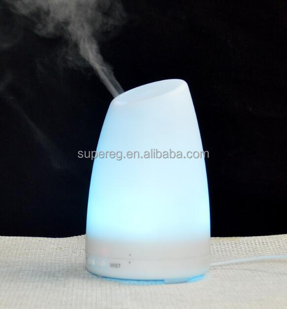 LED Changing Light Color Ultrasonic Essential Oil Aroma Diffusers 100mL Waterless Air Humidifiers
