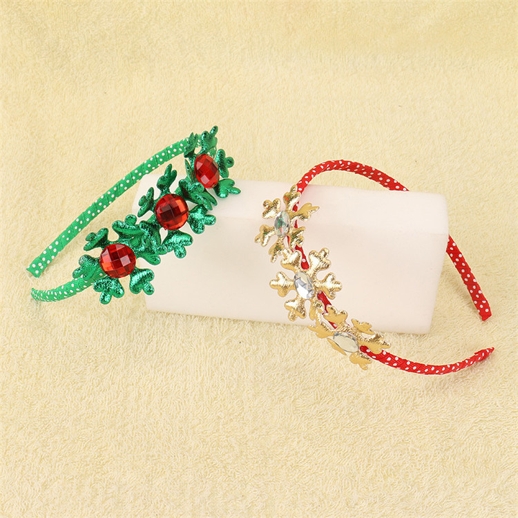Lovely christmas kids headband with crystal snow shape headband popular