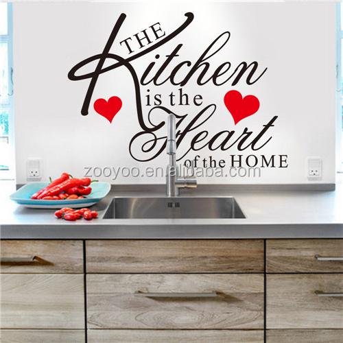 Zooyoo keuken decoratie professionele decoratieve stickers rood ...