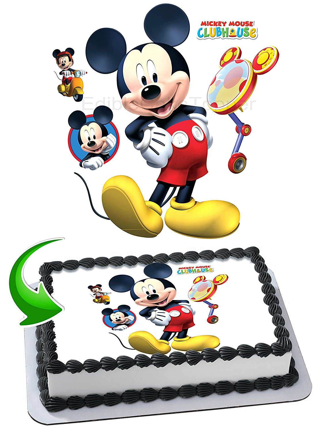 Miraculous Cheap Mickey Mouse Edible Cake Topper Find Mickey Mouse Edible Birthday Cards Printable Trancafe Filternl