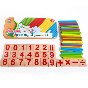 Wooden Colorful Math Learning Stick For Educational Math Toys Kid Toy