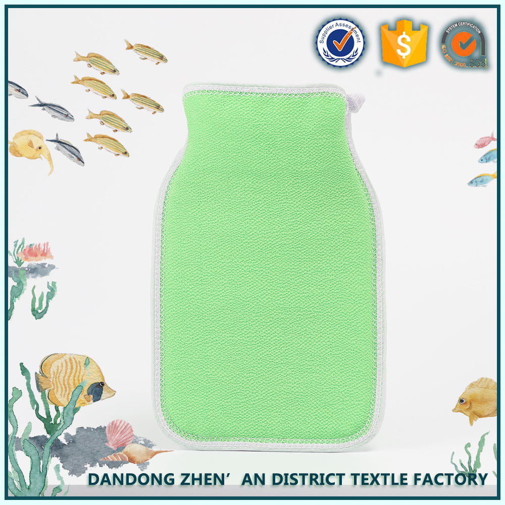 low shrinkable unique high quality fabric bath scrubber towel bath exfoliating