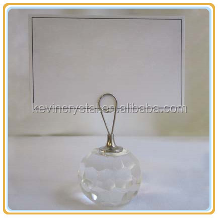 dining table crystal place card party favour