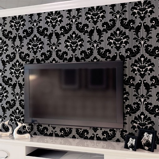 Classic Wall Paper Home Decor Background Wall Damask