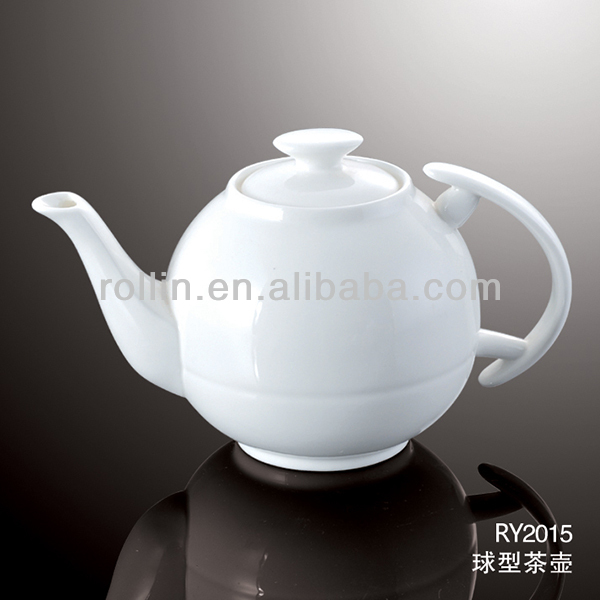 healthy durable white porcelain oven safe tea kettle with lid