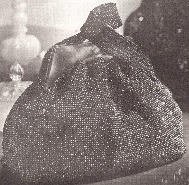 Get Quotations · Vintage Crochet PATTERN to make - Beaded Bag Purse Handbag  Retro 1940s. NOT a finished 0c60c8869d3c3