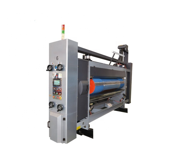 Semi automatic three color ink printing slotting die cutting machine