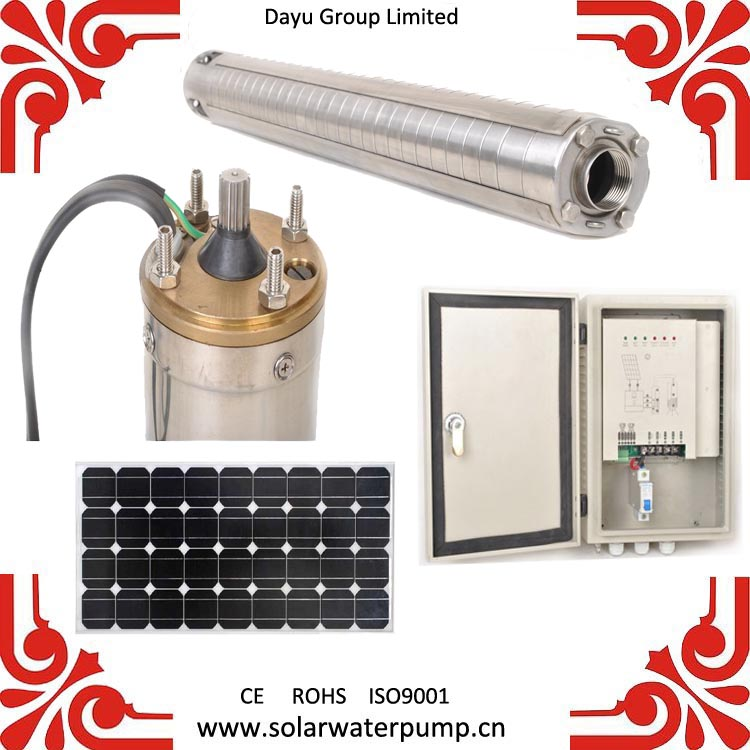 48v/110v/220v DC Solar centrifugal multistage water pump with DSP+MPPT DC pump controller