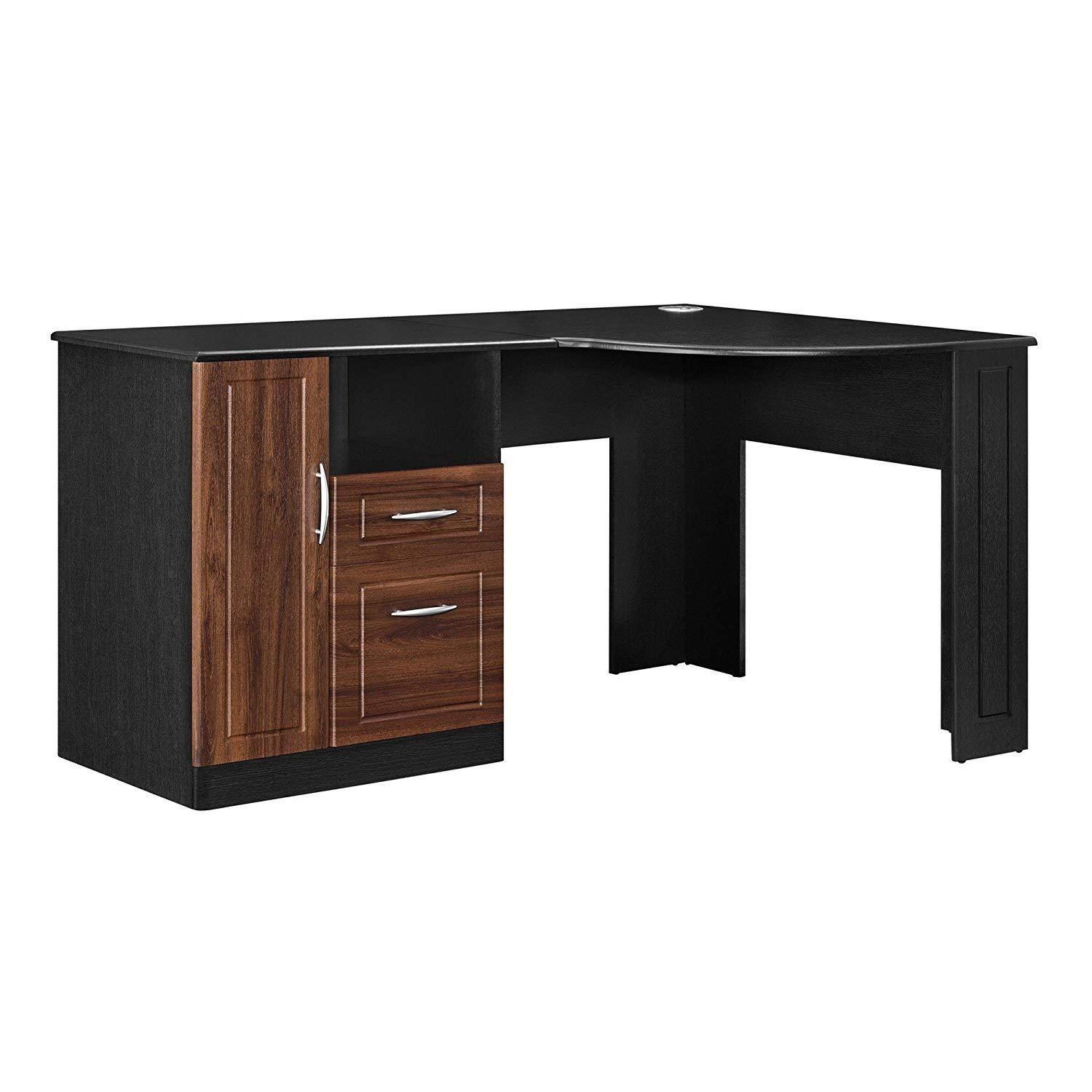 Indoor Multi-function Accent table Study Computer Home Office Desk Bedroom Living Room Modern Style End Table Sofa Side Table Coffee Table Black Corner Table