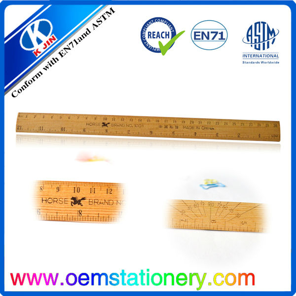 30CM wooden straight ruler / school ruler/ ruler for kids