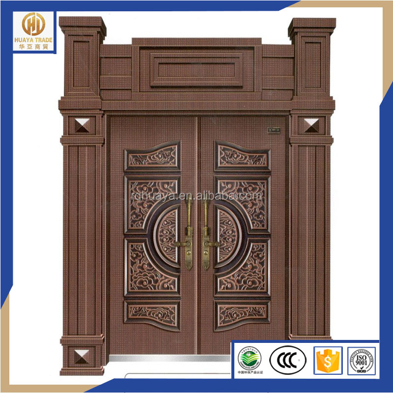 high-end imitation Copper <strong>door</strong>/Luxury villa <strong>door</strong>/Factory direct sale bronze copper security <strong>door</strong>