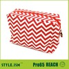 Mixed color clutch chevron large cosmetic case