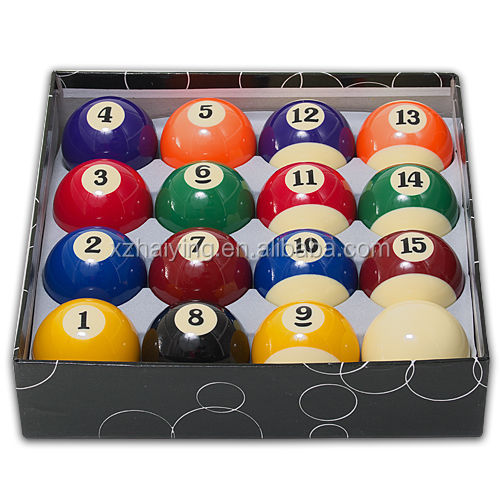 """New Deluxe Pool Billiard Balls Regulation Standard 2-1/4"""" Or 2.25 ..."""