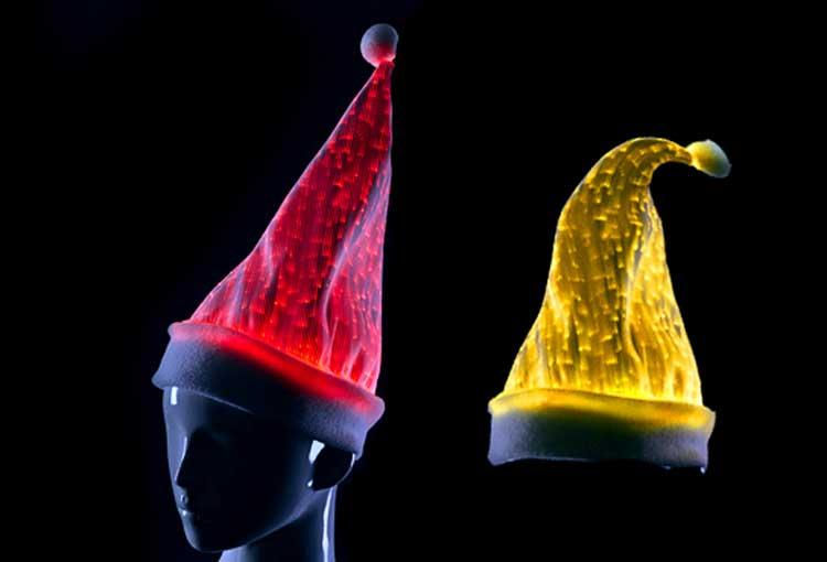 Luminous Led Flashlight Light Up Mini Party Christmas Novelty Hats ... 788cd331213