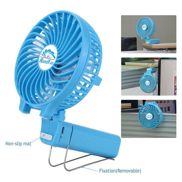 INTSUN Mini Ventilador de Mano con Agua USB Ventilador Port/átil//Recargable con spray de refrigeraci/ón,humidificador de vapor Silencioso /&Personal 5 colores, 5 in, 2200mA
