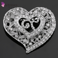 Weiman Factory new developed Thailand rhinestone brooch crystal heart shaped No 9 brooches for remembering King of Thailand