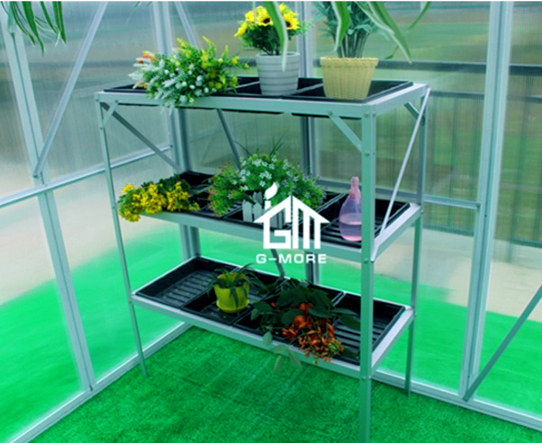 DIY Indoor&Outdoor Seed Starting Tray Stand with 3 Tier